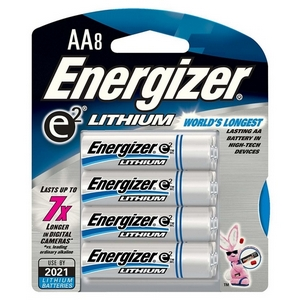 energizer aa lithium high energy lithium batteries 4 pack pro. Black Bedroom Furniture Sets. Home Design Ideas