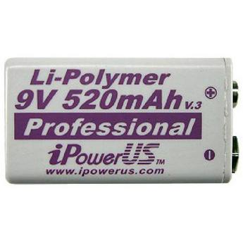 I Power 9v 700mAh Li Polymer Rechargeable Battery Each By Ip Pro Sound