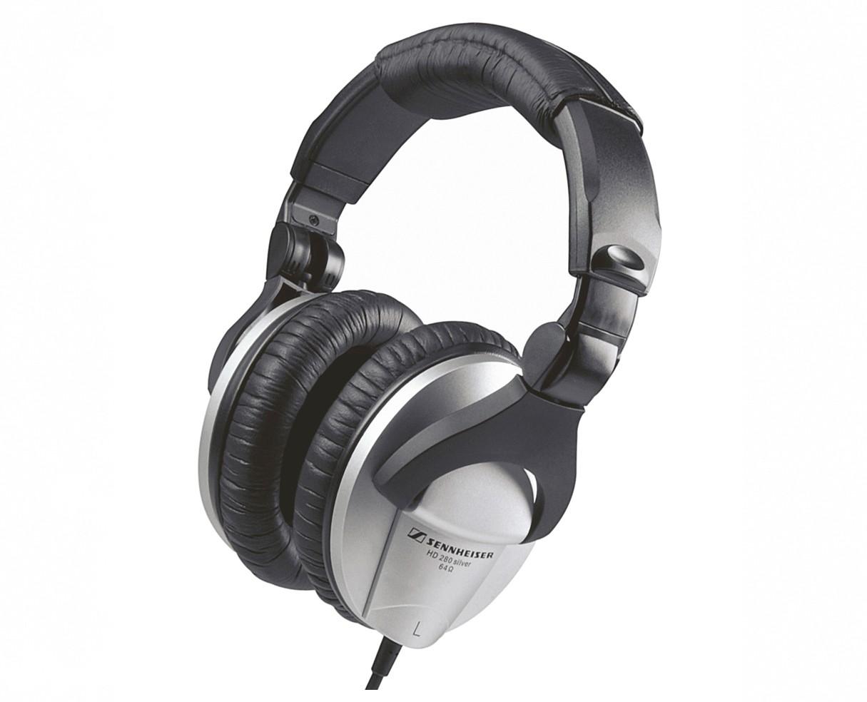 sennheiser hd280 silver closed dynamic stereo headphone pro sound. Black Bedroom Furniture Sets. Home Design Ideas